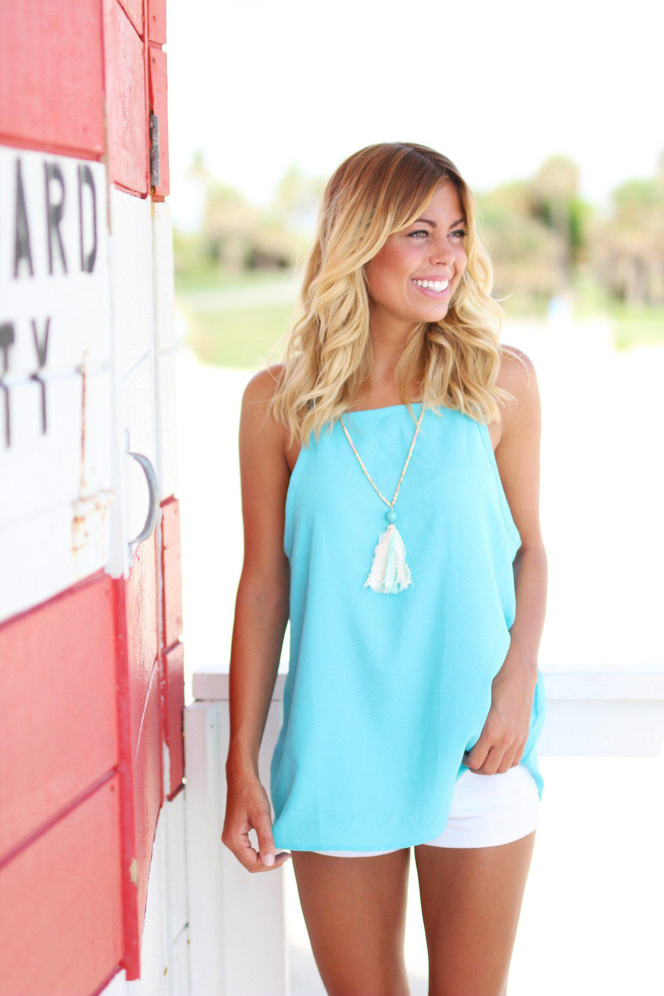 aqua fashion top