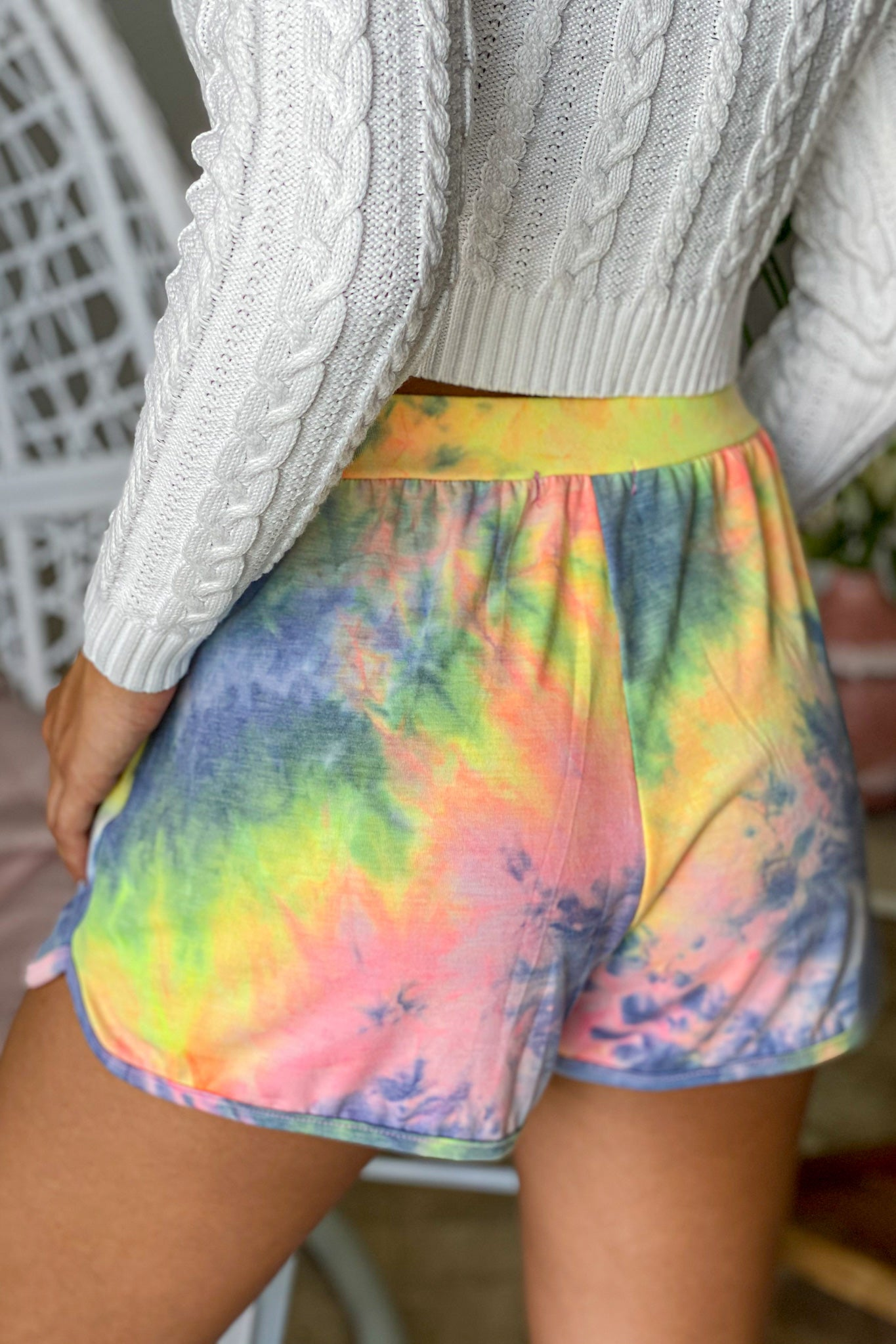 multicolored loungewear shorts