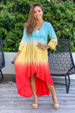 multicolored summer cover up