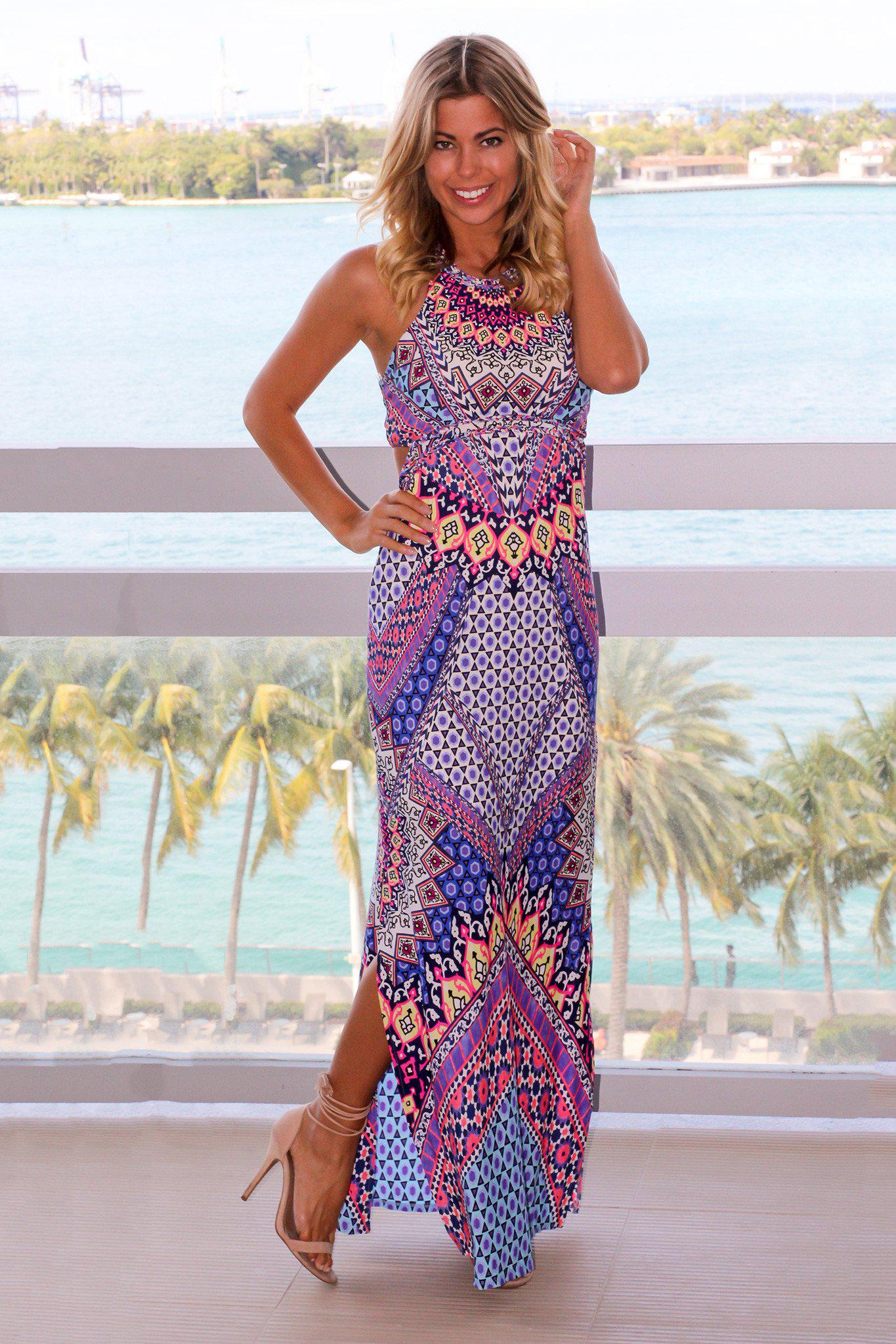 multi colored maxi