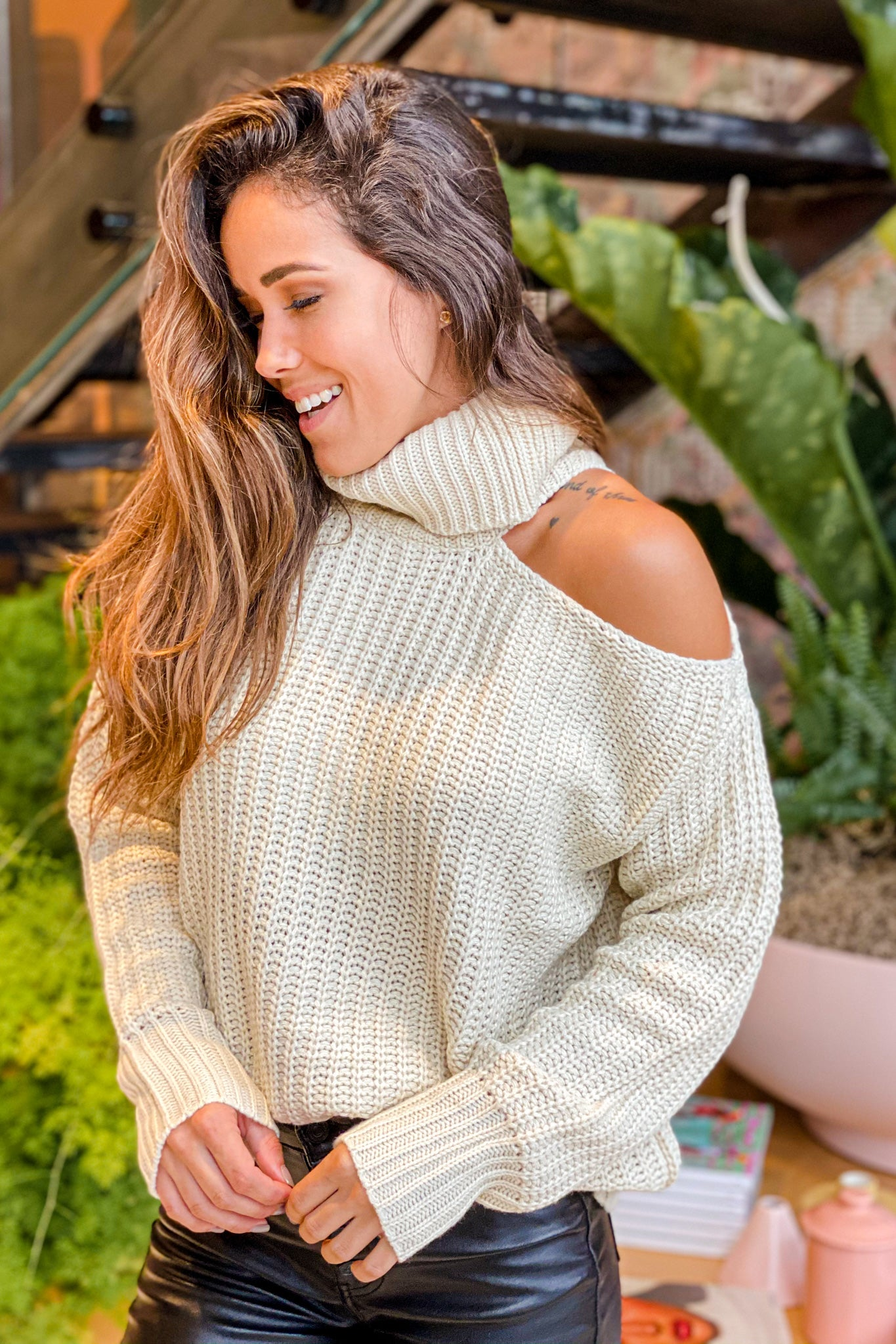 natural long sleeve top