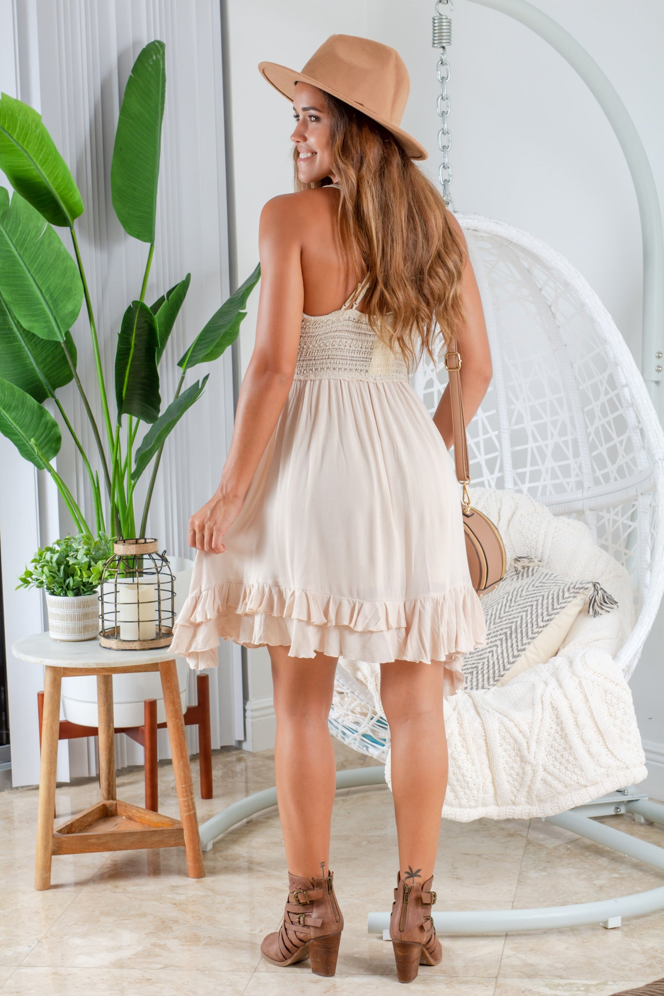 natural vacation short dress