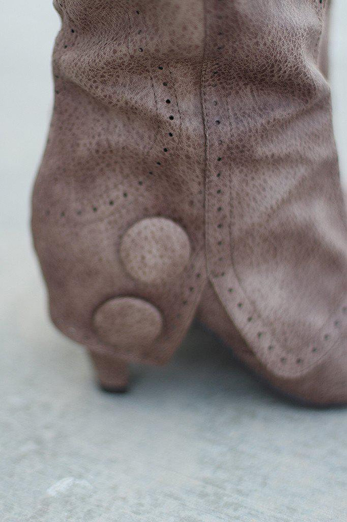 taupe cute boots