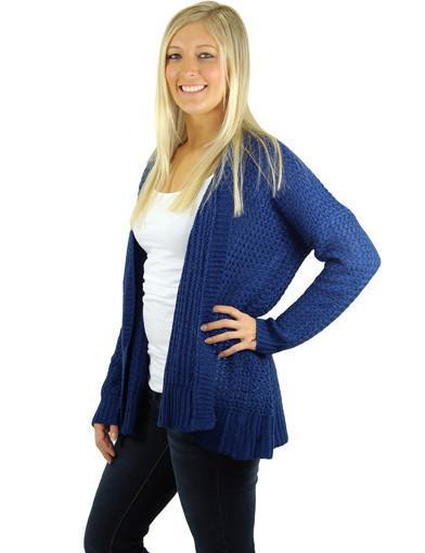 Navy cardigan women - zoomed view