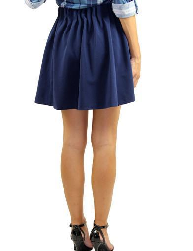 Navy office skirt - back zoomed view