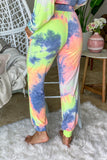 neon yellow tie dye cute sweatpants
