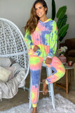 neon yellow tie dye sweatpants