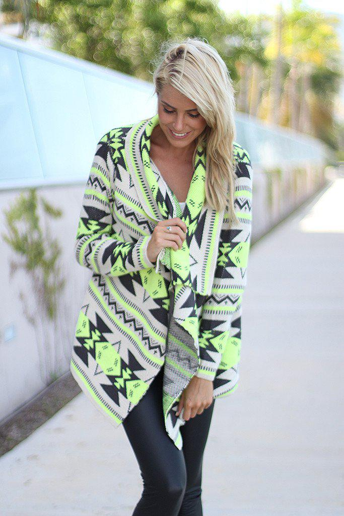 Neon Lime Cardigan