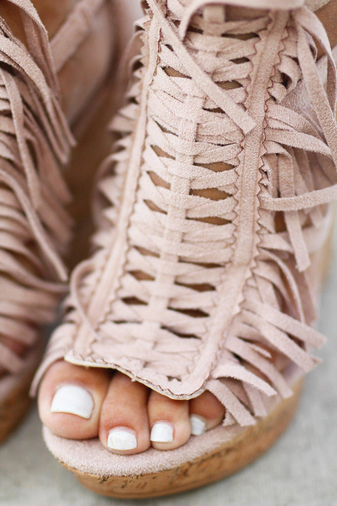 nude summer wedges
