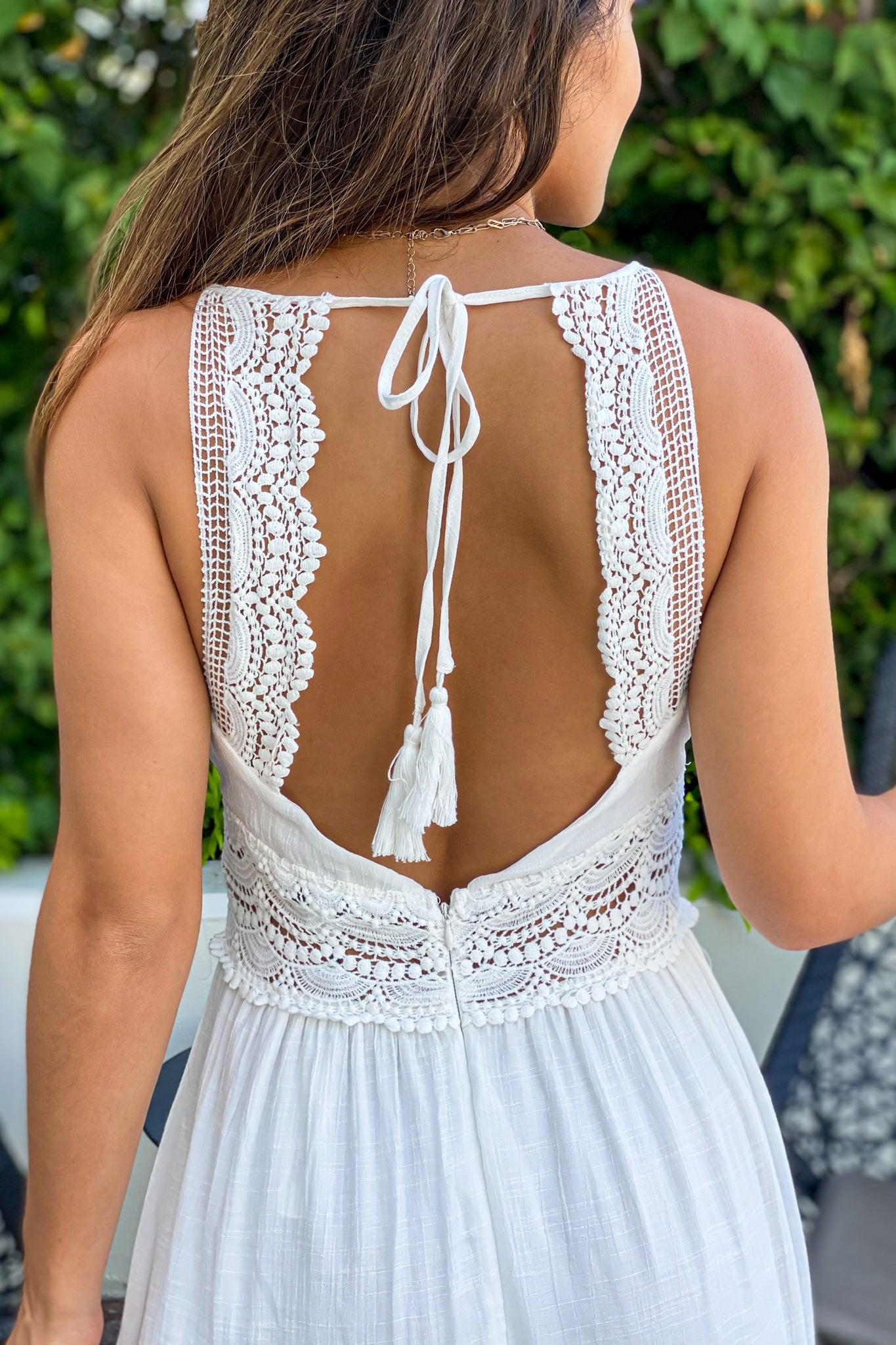 off white crochet summer dress
