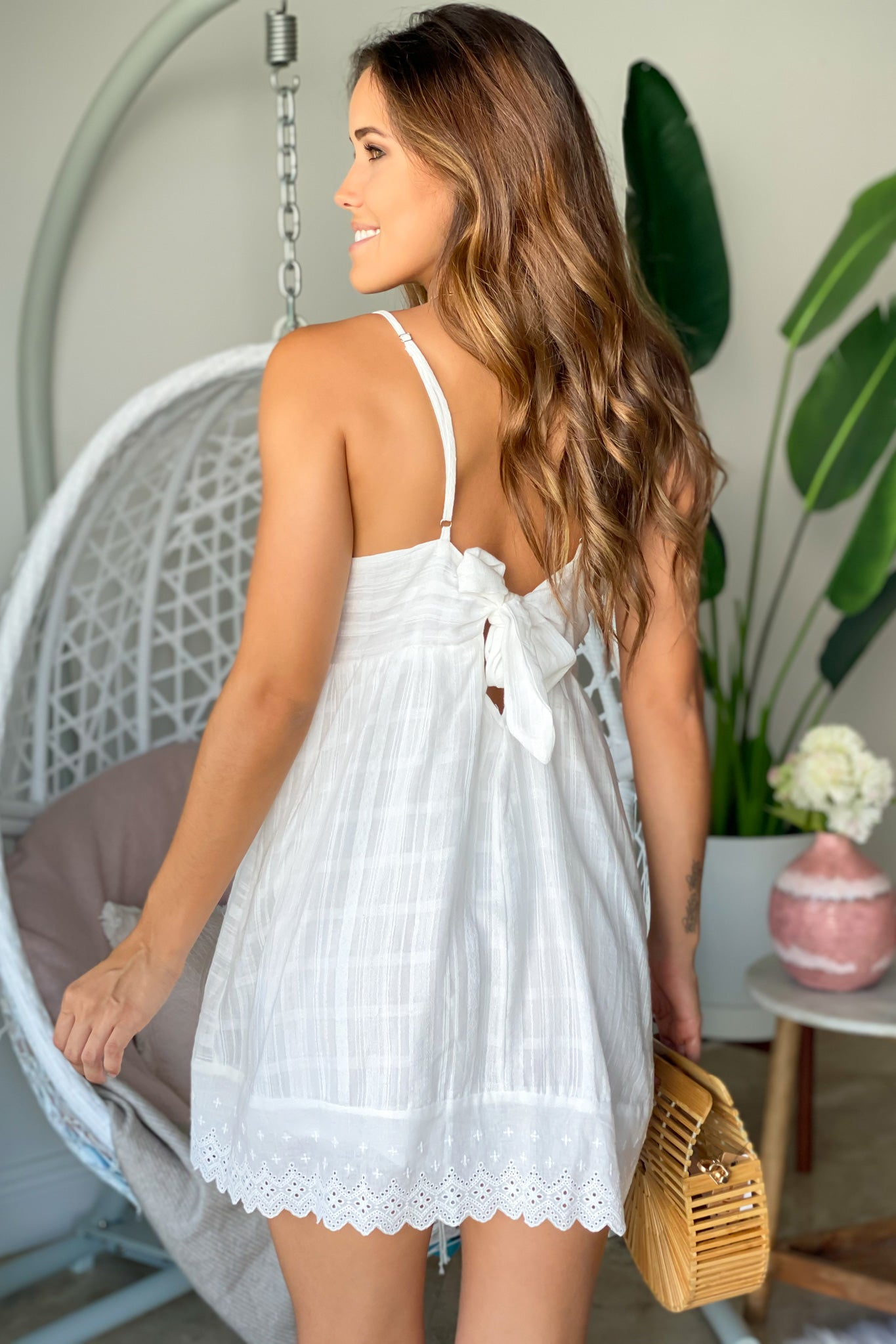off white  vacation romper