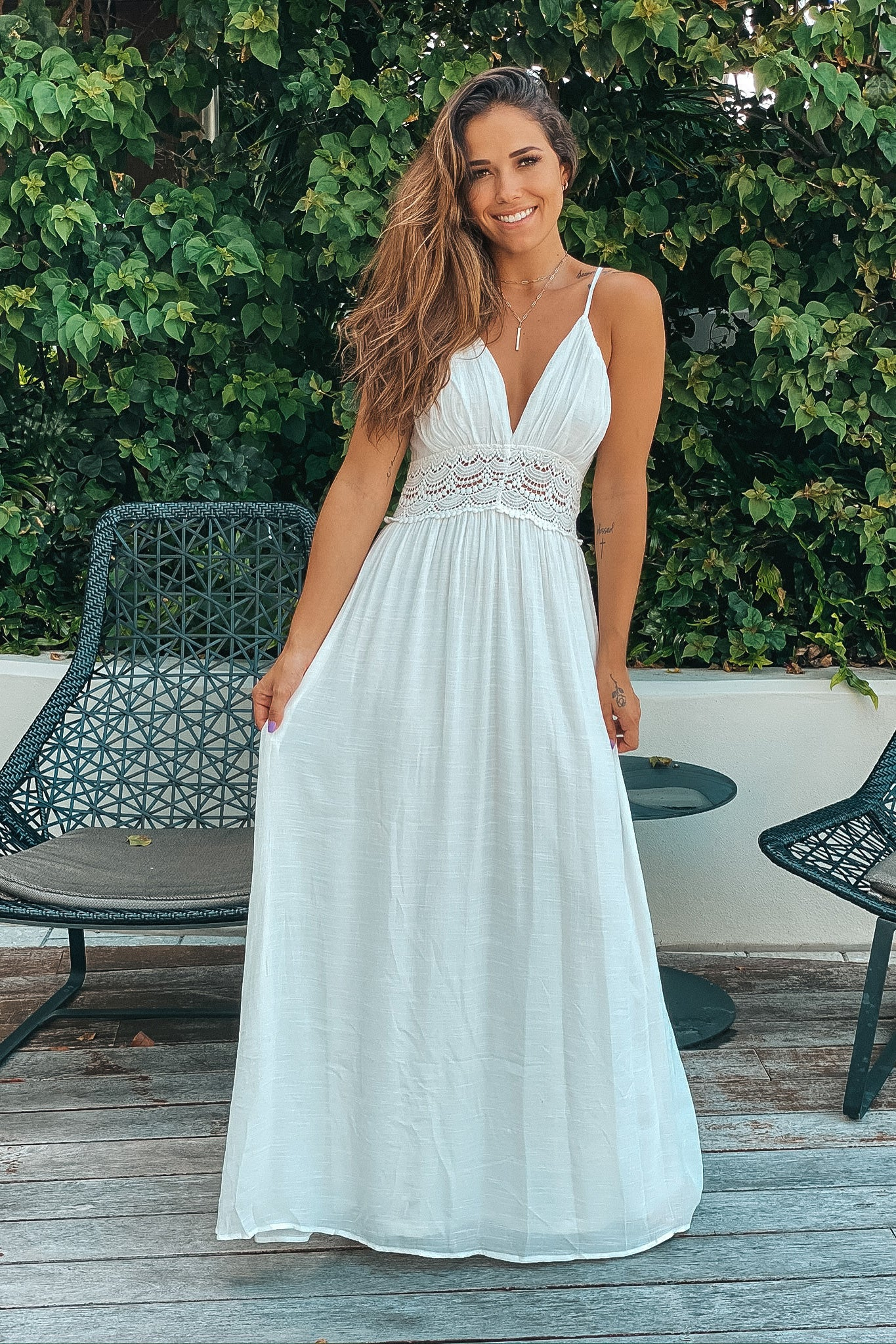 off white wedding reception dress