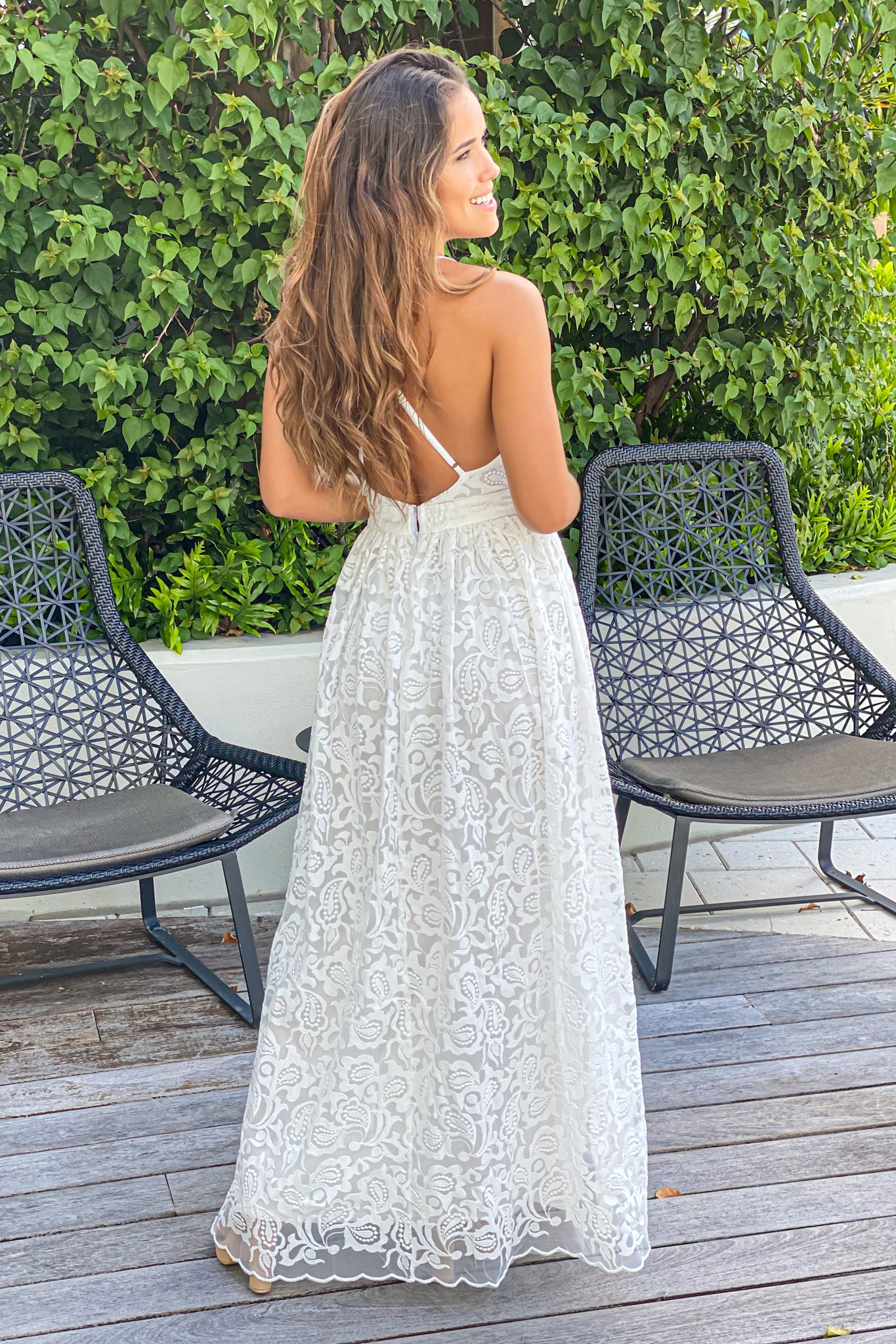 off white wedding rehearsal dress