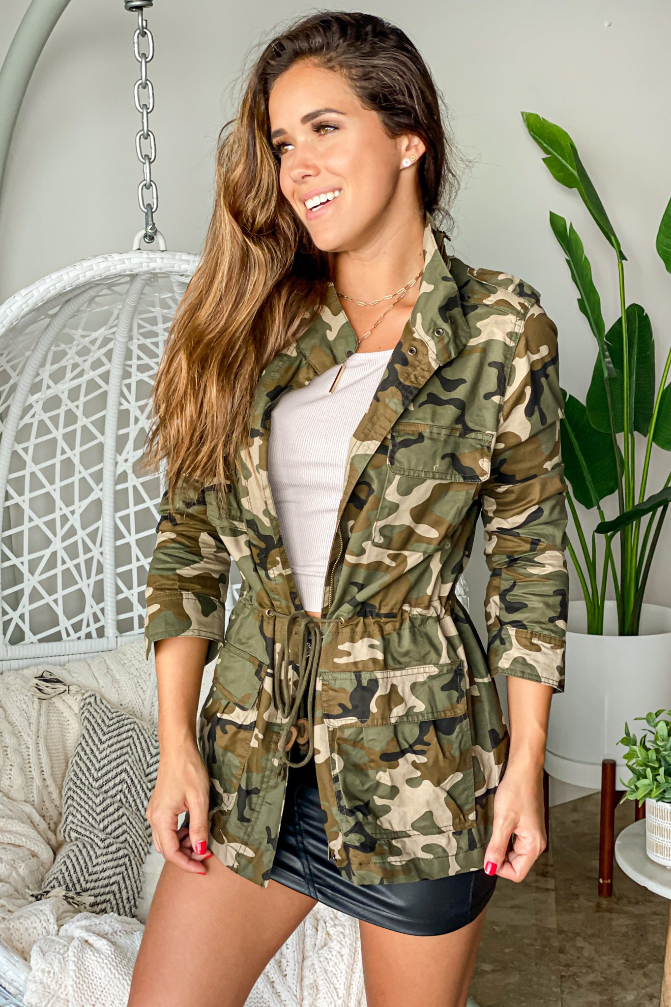 olive camo hunter jacket