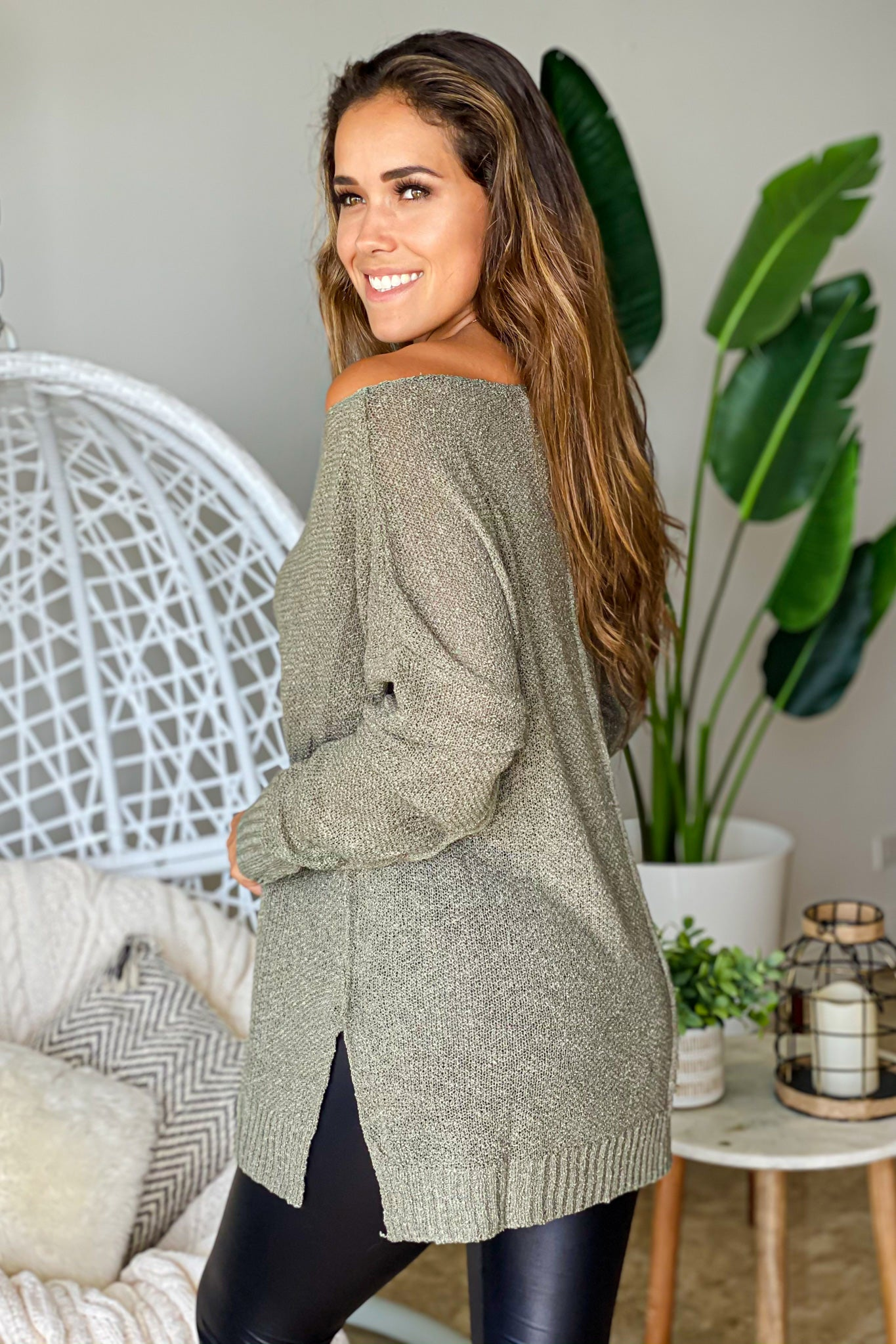 olive casual tunic top