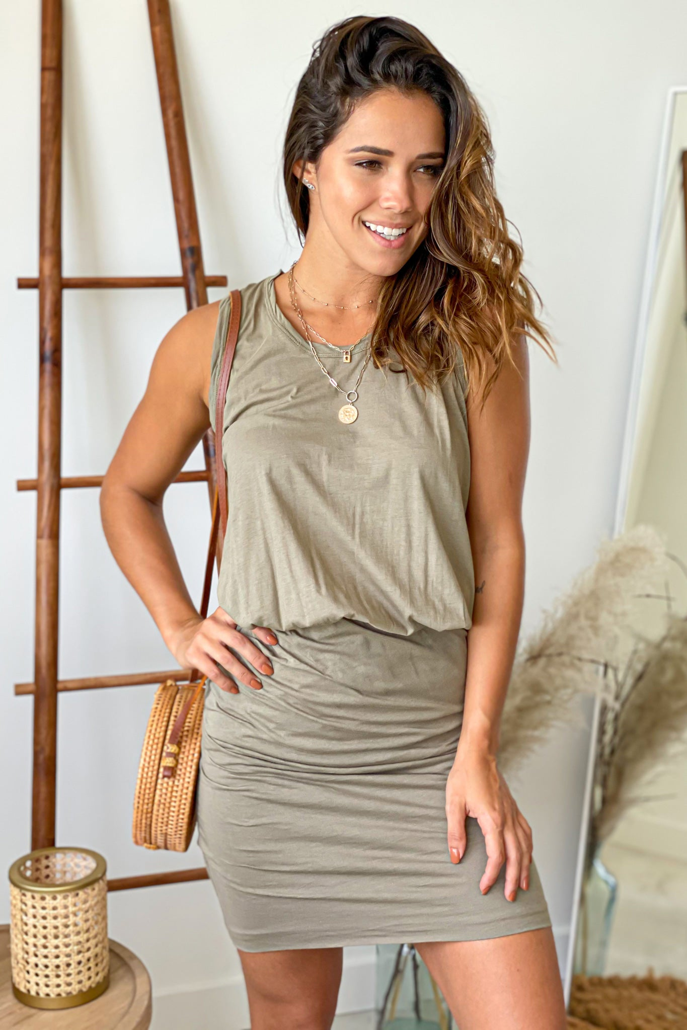 olive cute short dress