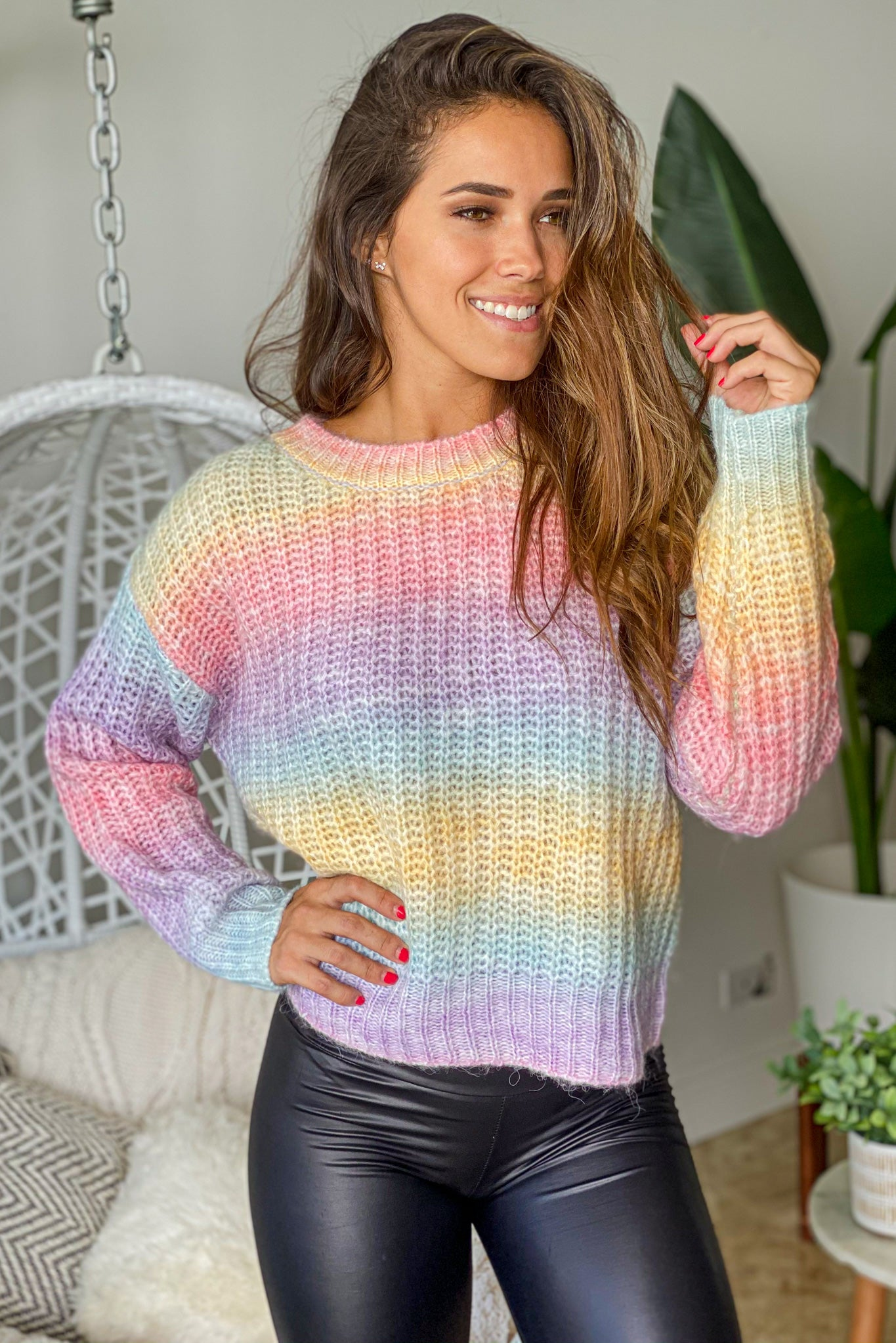 ombre casual sweater