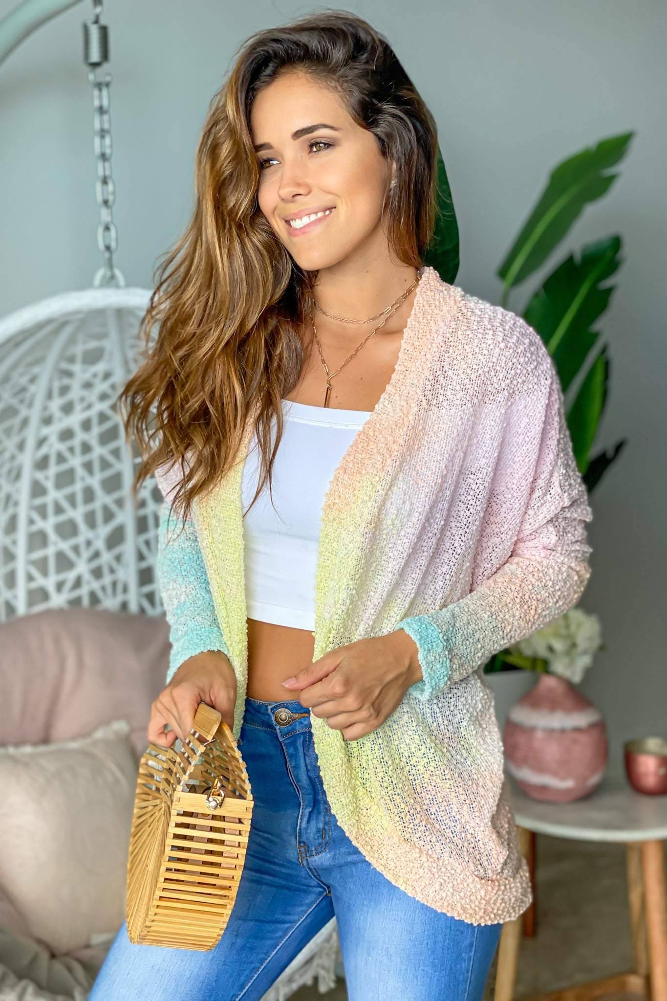 ombre cute cardigan