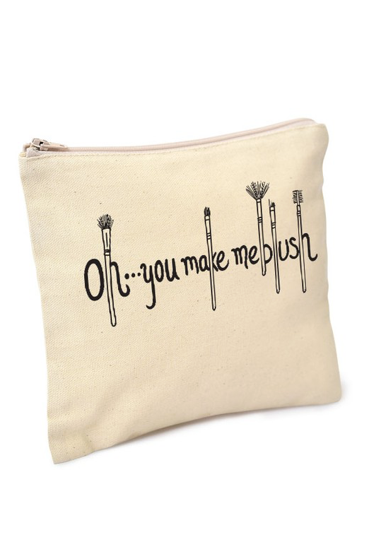 "Natural ""Oh... you make me blush"" Makeup Bag"