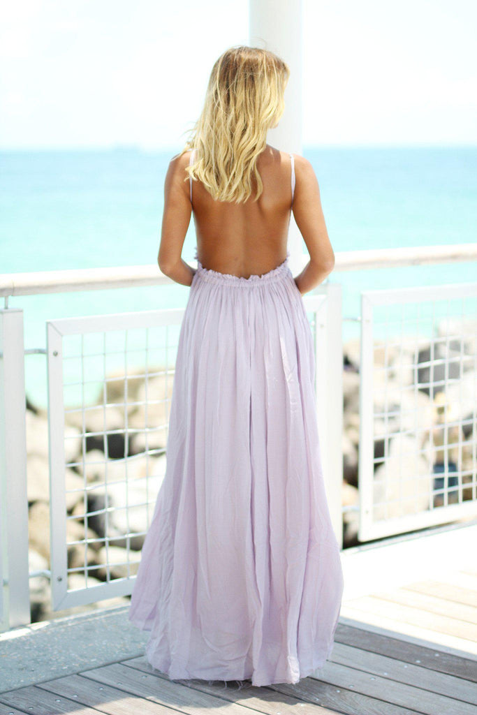 bridesmaid dress with open back