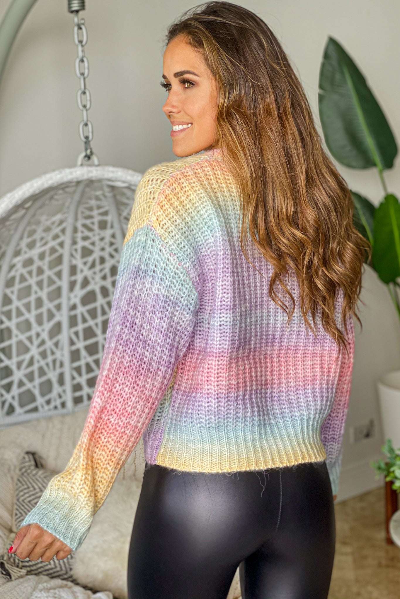 pastel ombre knit sweater