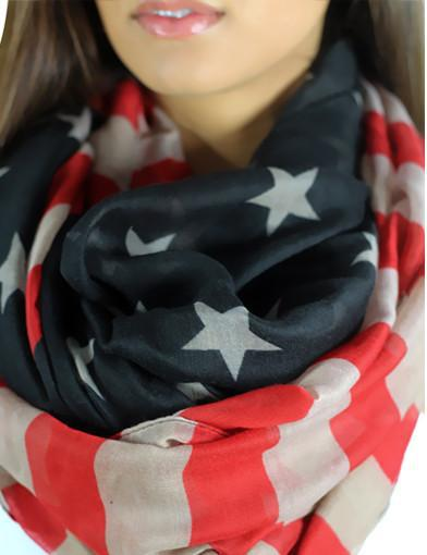 Patriotic scarf - zoomed view