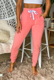 peach sweatpants with pockets
