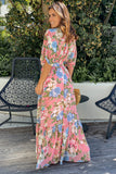 pink floral dolman maxi dress