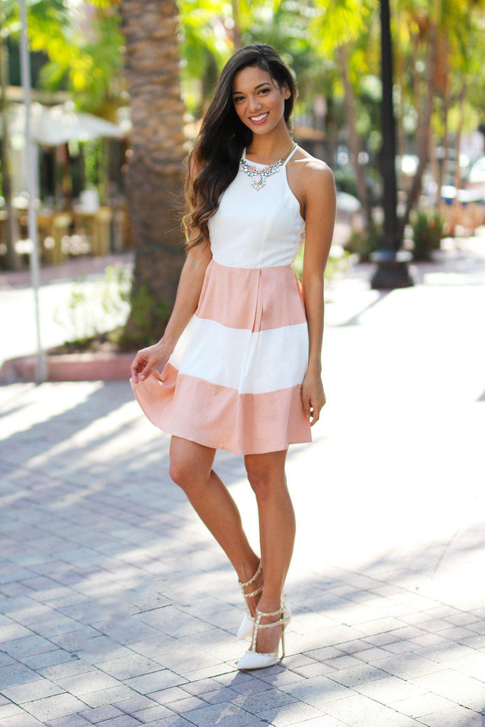 color block fashion dress