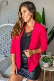 red open blazer