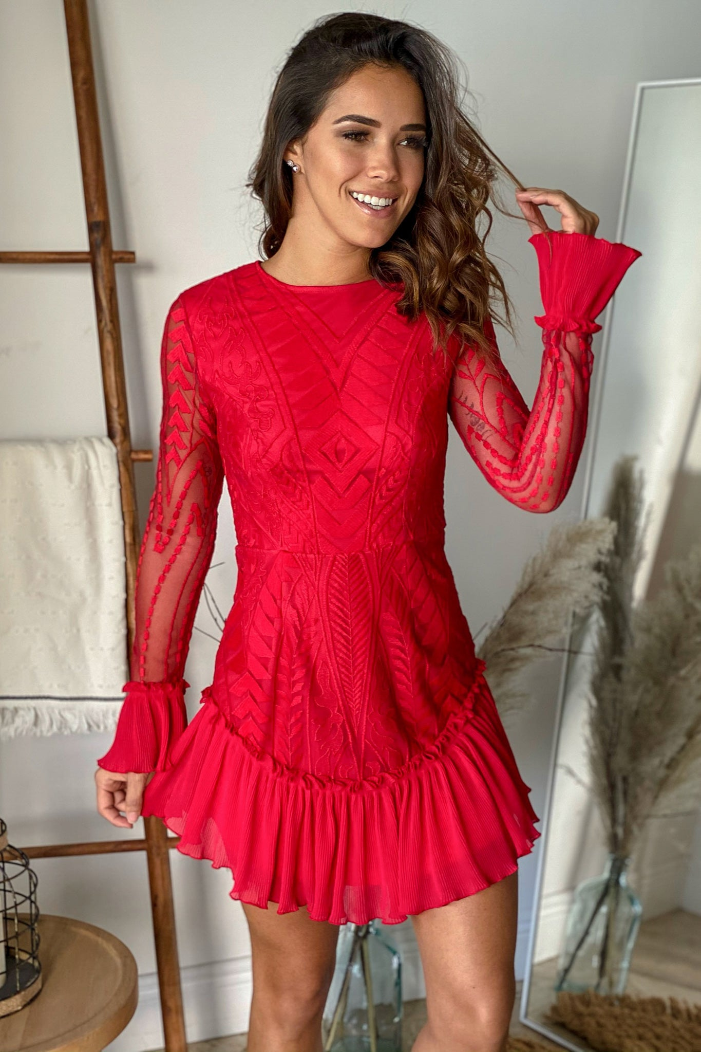 red party short dress