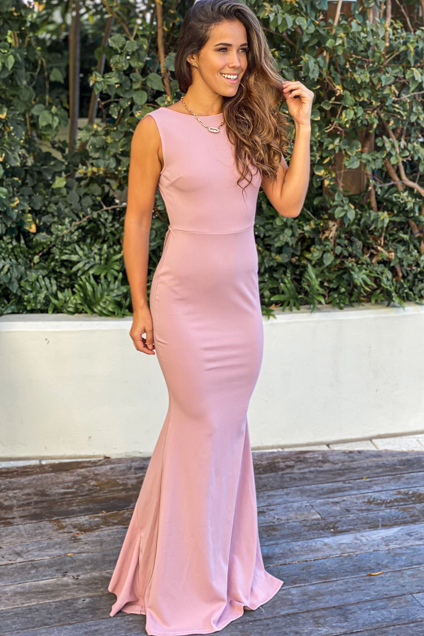 rose party maxi dress