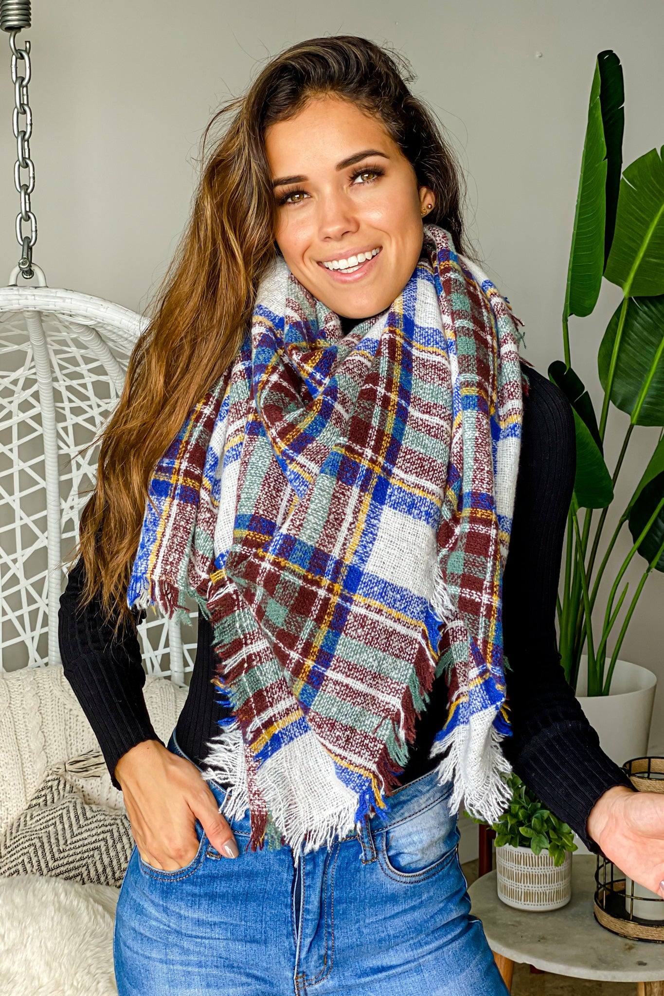 royal blue cute scarf