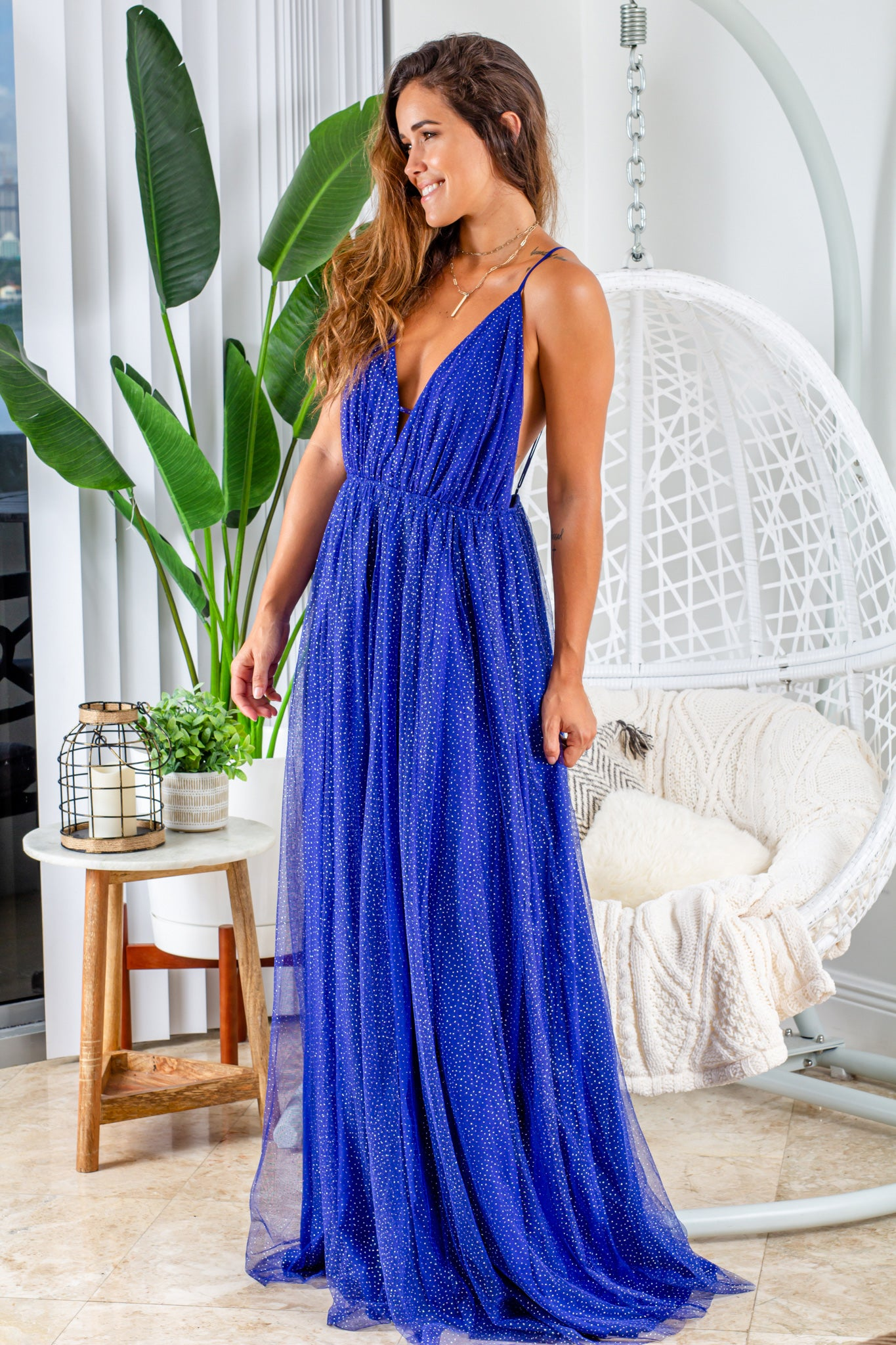 royal blue formal maxi dress