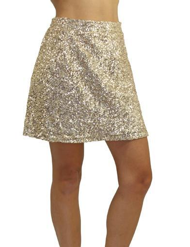 Sequin skirt - semi front view