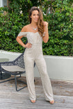 sequined party jumpsuit