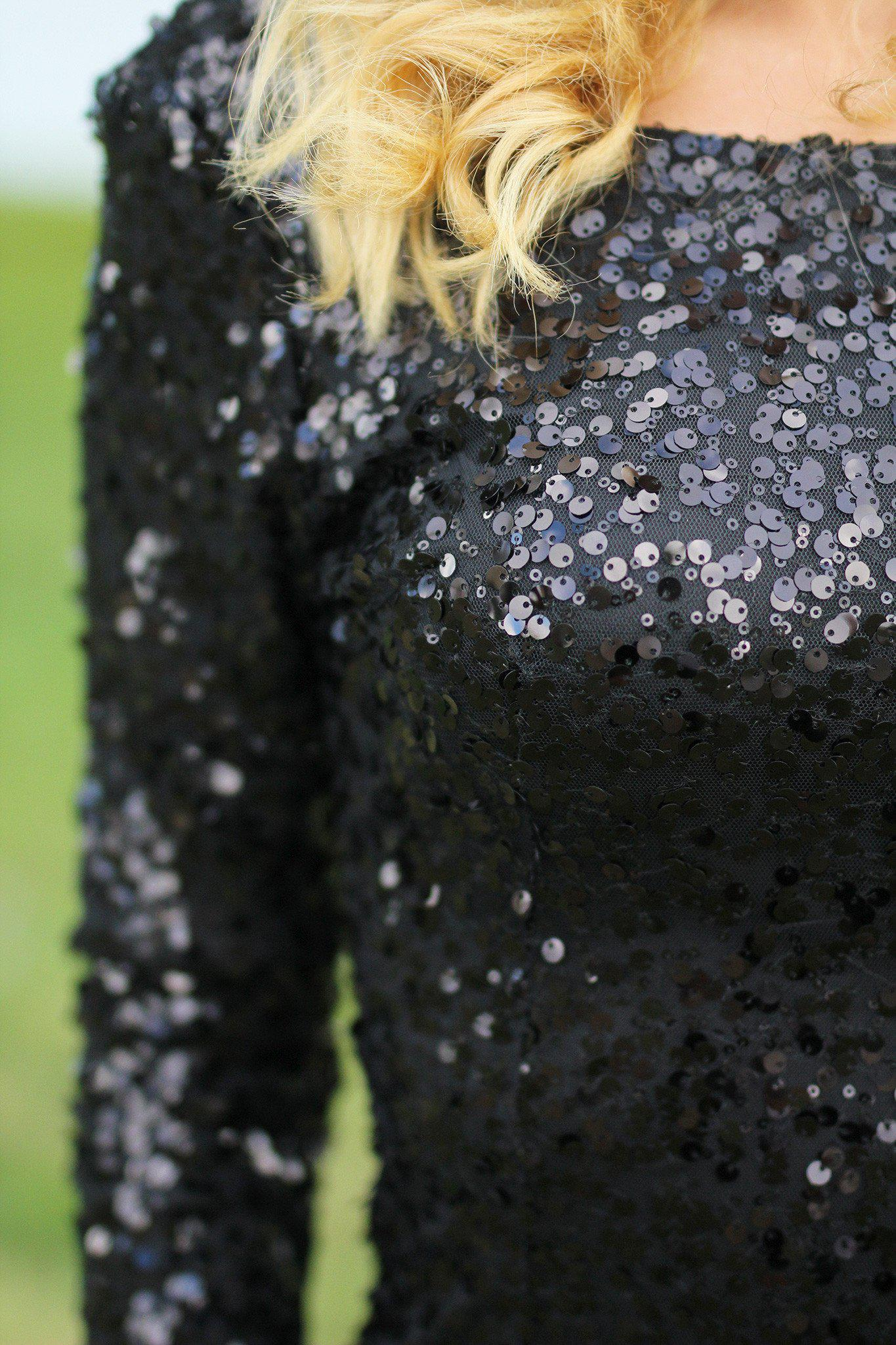 black sparkly short dress