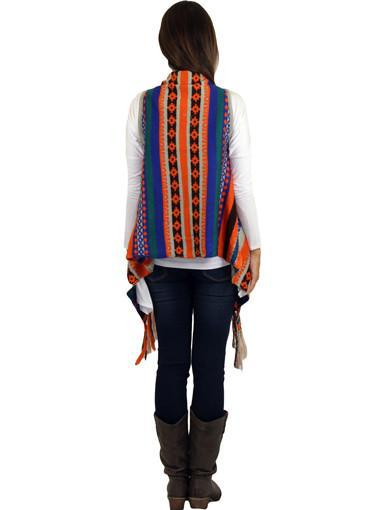 Sleeveless Cardigan With Fringe