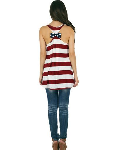 striped american flag top