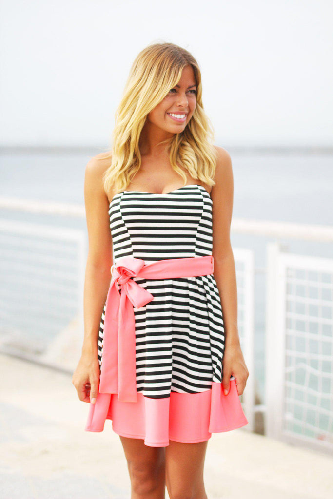 striped cute dress