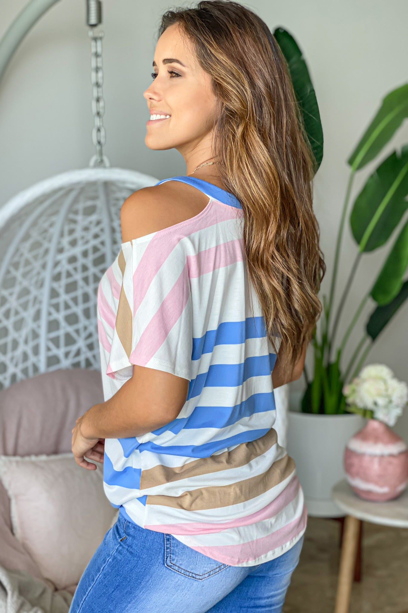 Striped Loose Fit Top