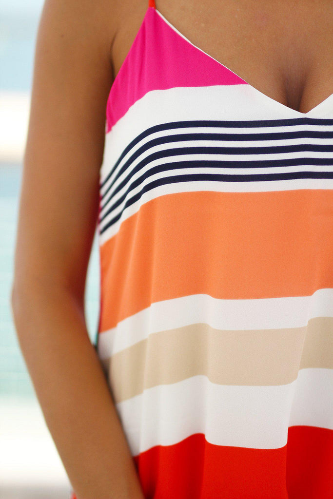 multi color beach dress