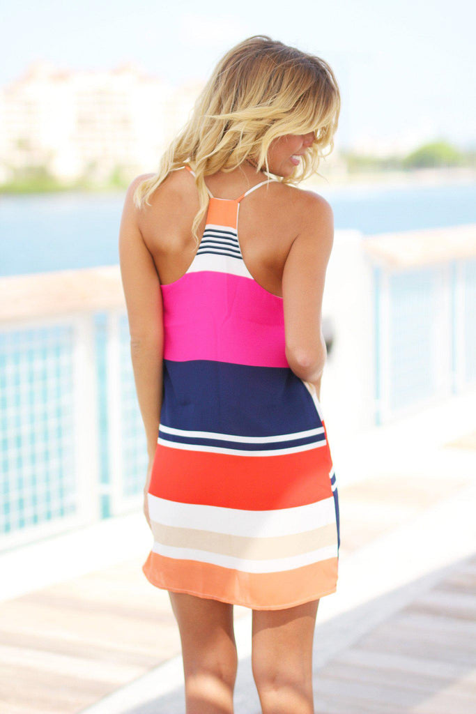 multi color short dress
