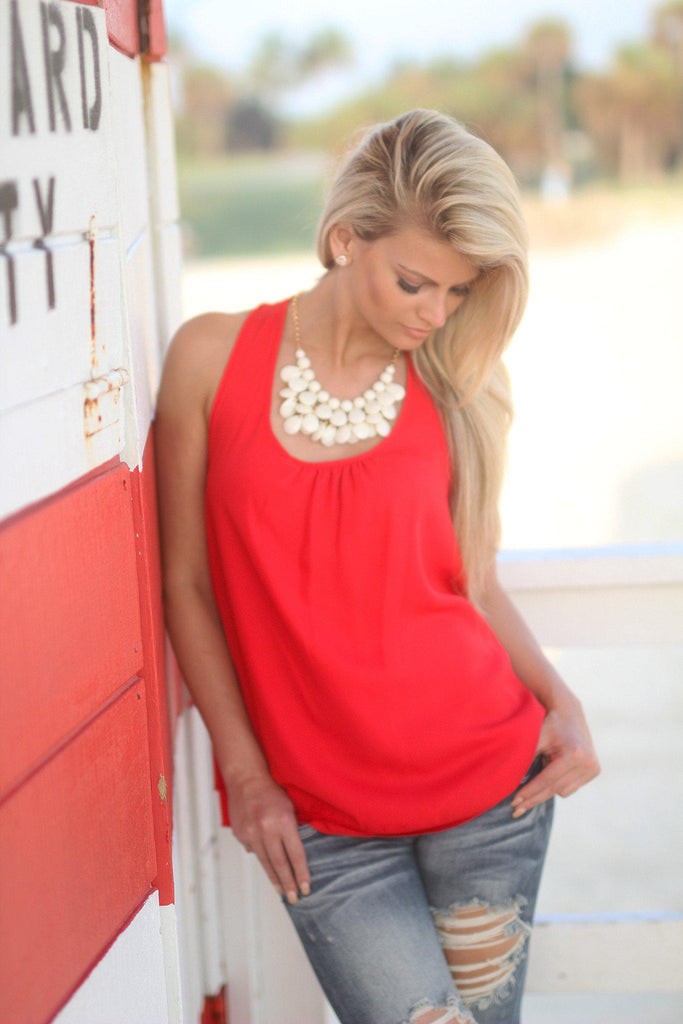 red special occasion top
