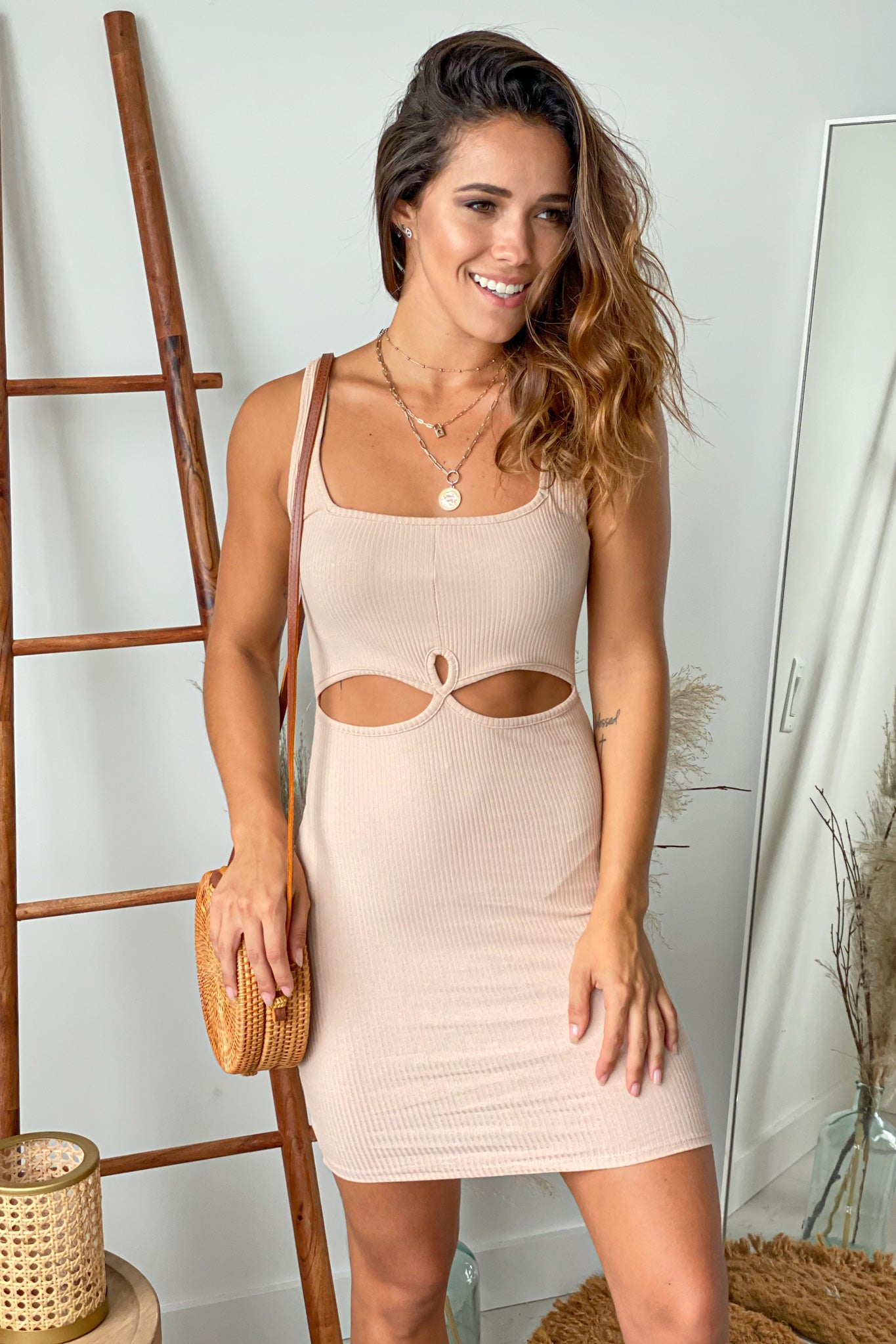 taupe  short dress