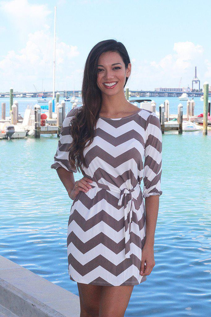chevron cute short dress