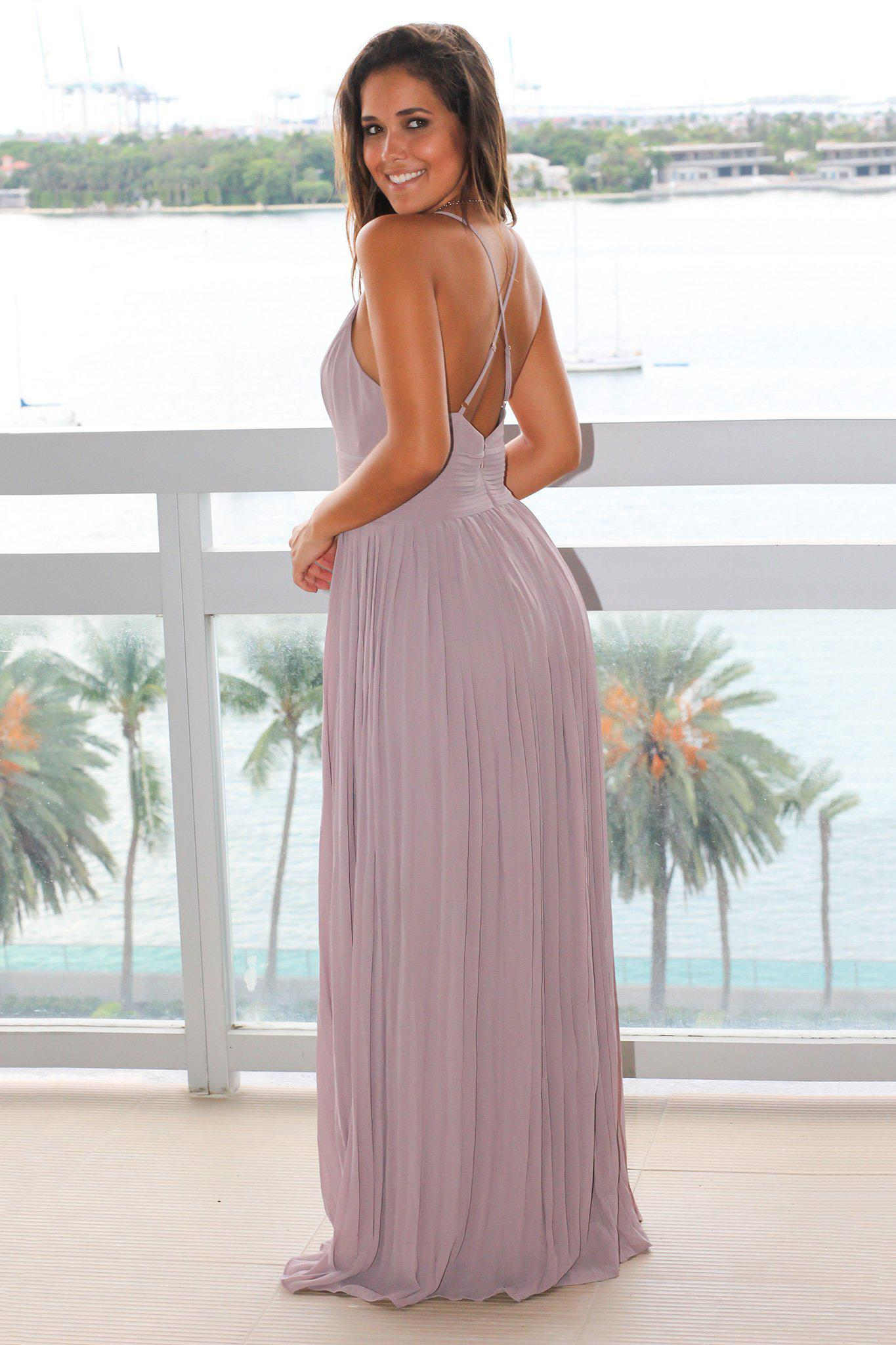 taupe and gray maxi