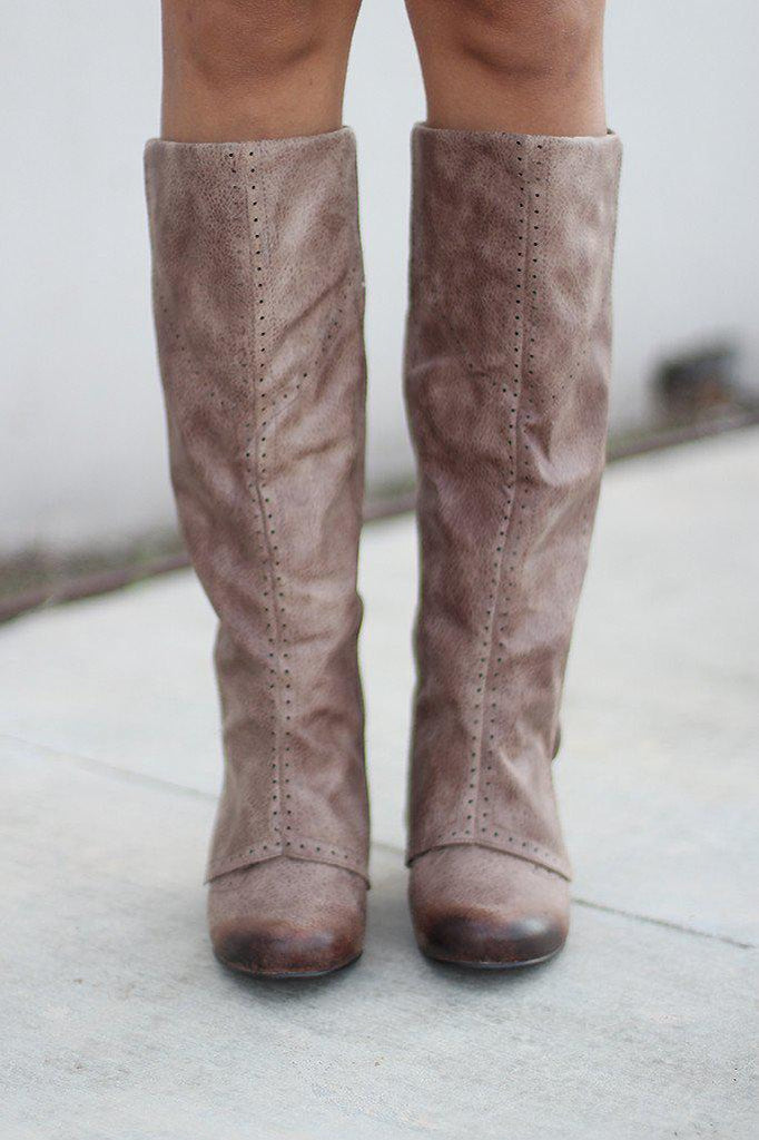 taupe dress boots