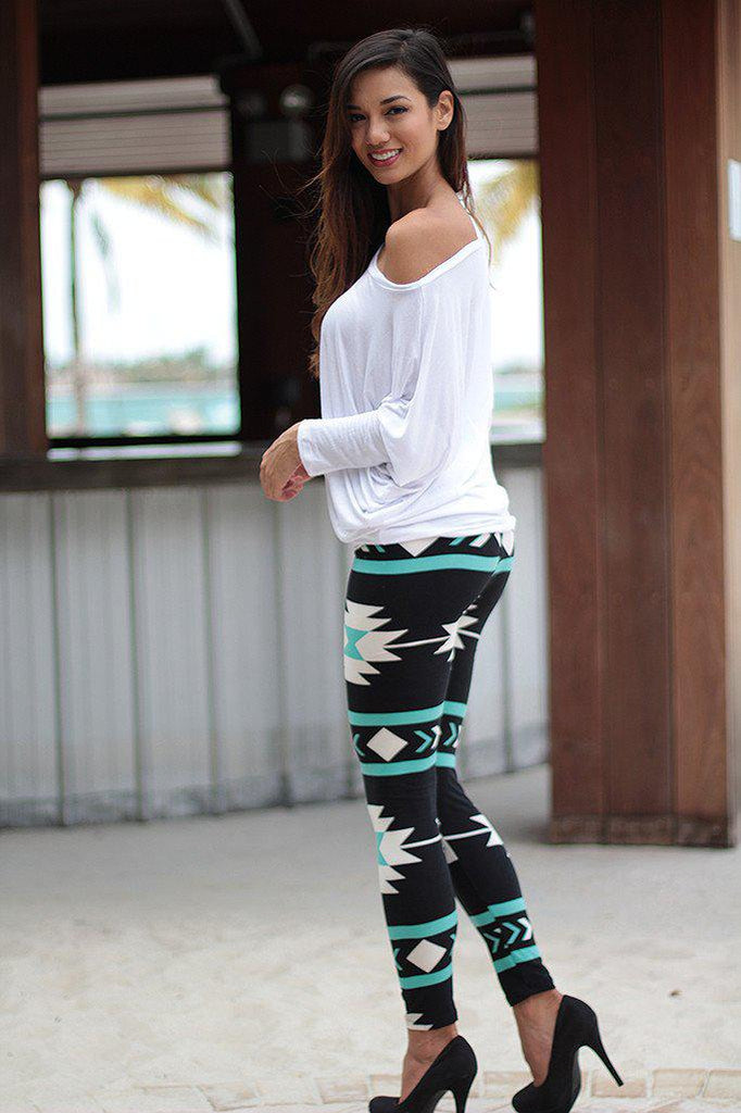 teal and black leggings