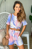 tie dye cute top and shorts set